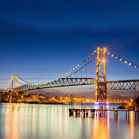 Foto da Ponte Hercílio Luz