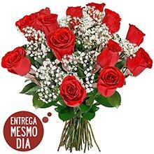 Buquê 12 Rosas Nacionais (DF)