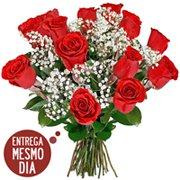 Buquê 12 Rosas Nacionais (SP  Litoral)