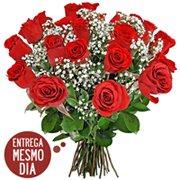Buquê 24 Rosas Nacionais (SP  Litoral)