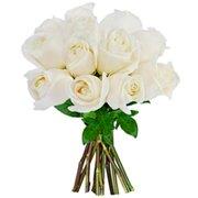 12 Rosas Colombianas Brancas