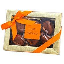 Caixa Damascos com Doce de Leite & Chocolate 6 unidades