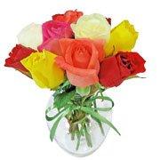 Surpresa de Rosas Coloridas Goiânia