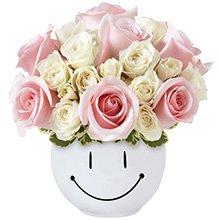 Sorridente de Rosas Cor Rosa