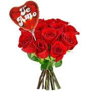 12 Rosas Colombianas Vermelhas e Balão