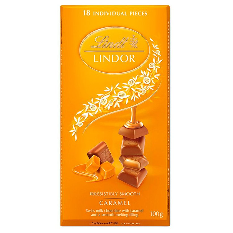 Tablete de Chocolate Caramelo Lindt 100g