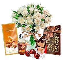 Contagiar de Rosas Branca & Chocolates