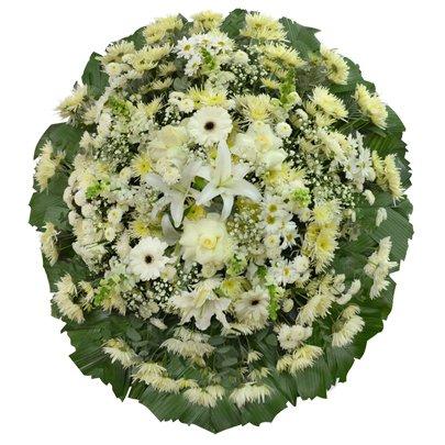 Coroa Flores Brancas Premium Média 1  GF01