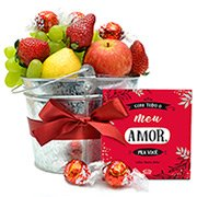 Cesta de Frutas com Amor