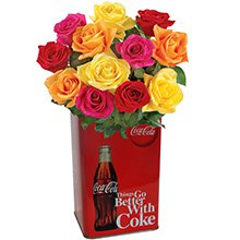 Coke & Rosas Coloridas