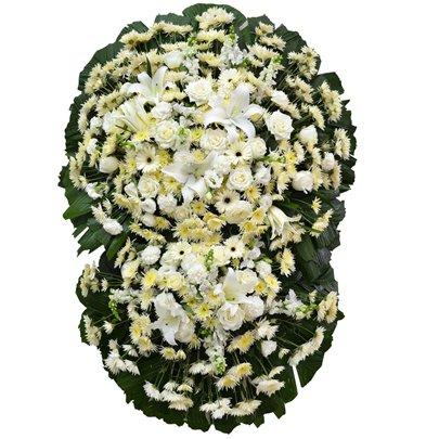 Coroa Flores Brancas Luxo Média GF10
