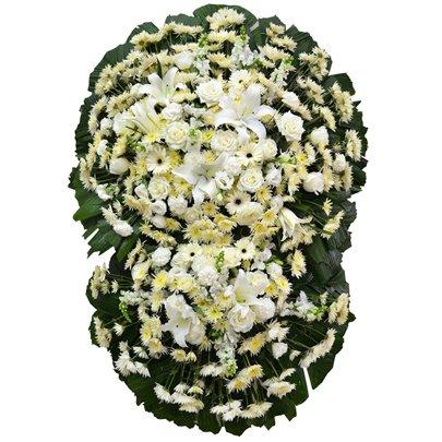 Coroa Flores Brancas Luxo Pequena GF10