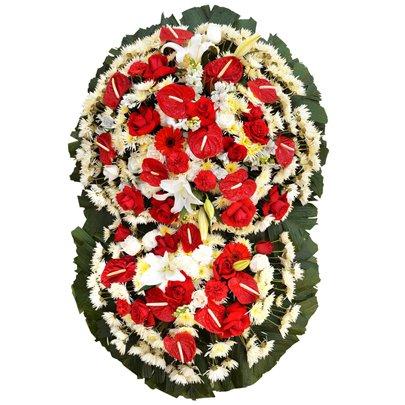Coroa de Flores Standard Super Luxo Pequena GF10