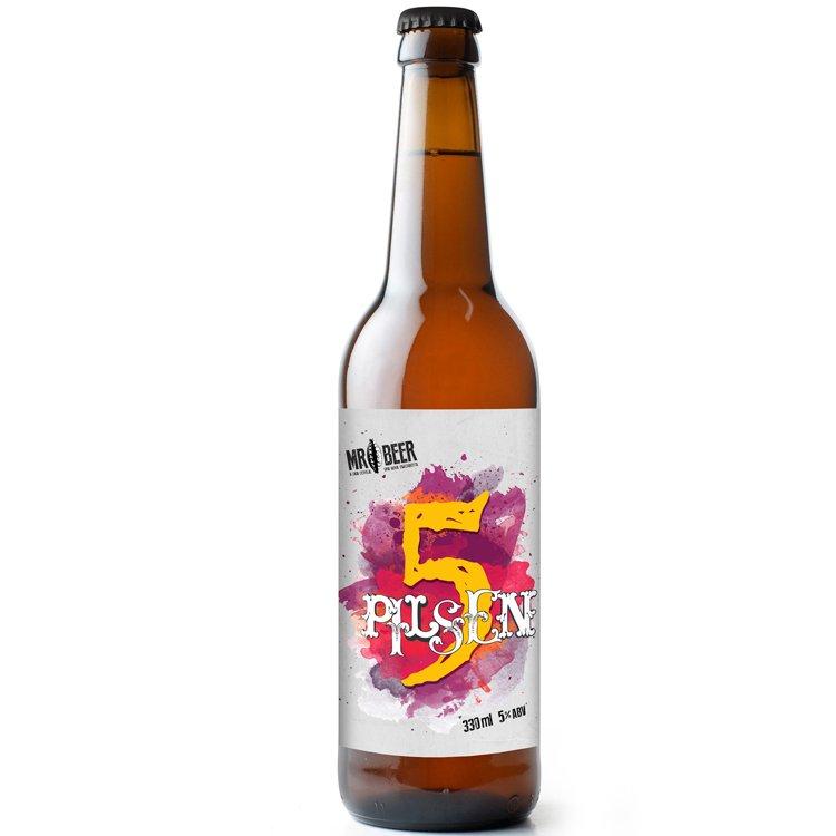 Cerveja 5 Pilsen Mr. Beer 355 ML