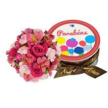 Flores Nobres Pink & Parabéns