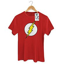 Camiseta Masculina The Flash Logo P