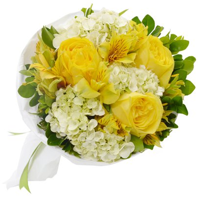 Buquê Carinho de Rosas Yellow