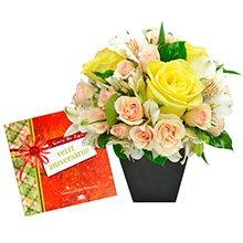 Feliz Aniversário com Flores Mistas