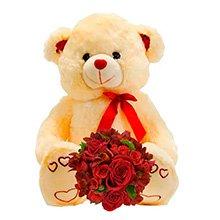 Urso carinho com Flores