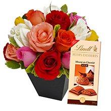 Lindt & Rosas Coloridas