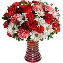 Explendido Mix de Flores no Vaso