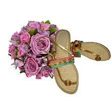 Flores Nobres & Rasteirinha Capim Colorida 35