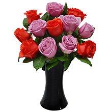 Luna 12 Rosas Vermelhas & Lilás