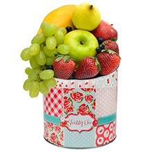 Frutas & Lata Decorativa Patchwork