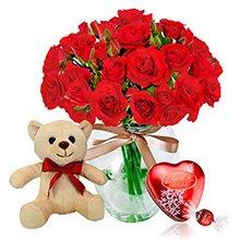 Contagiar de Rosas Vermelhas, Pelúcia e Lindt