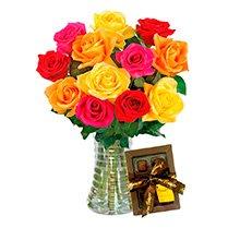 Inspiração 12 Rosas Coloridas & Chocolate