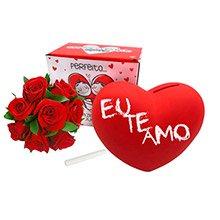 Rosas Vermelhas & Cofre Love Uatt
