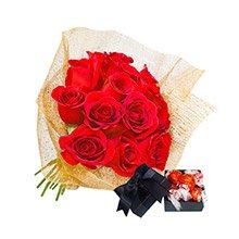Fascínio de Rosas Vermelhas & Chocolate