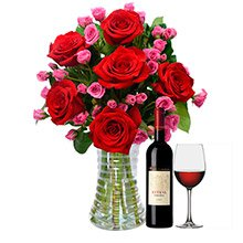 Luxuosas Vermelhas e Lilás e Bebida