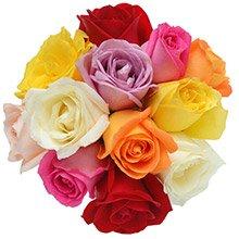 Buquê Surpresa de Rosas Colorido