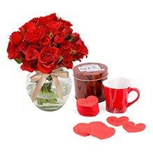 Contagiar de Rosas Red & Caneca