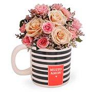 Mega Caneca & Mix de Flores