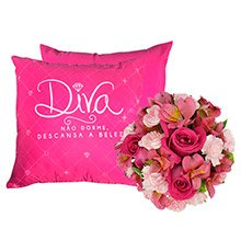 Mix de flores & Almofada Diva