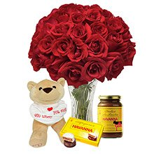 Opção do Amor Vermelho, Pelúcia e Chocolate