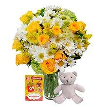 Flores & Vida Amarelo, Pelúcia e cartão