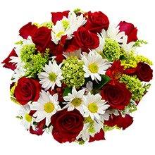Buquê Flores & Vida Vermelho