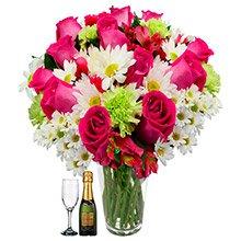 Flores & Vida Pink, com Champanhe