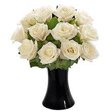Luna de Rosas Brancas no Vaso