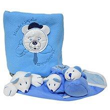Kit Manta, Cheirinho e Patufa Urso Azul