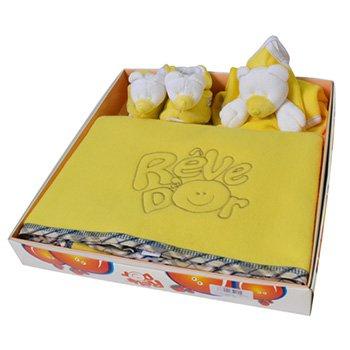 Kit Manta, Cheirinho e Patufa Urso Amarelo