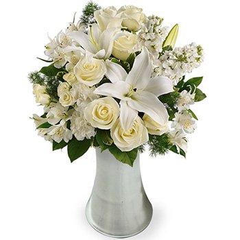 Poesia Mix de Rosas & Lírios Brancos Premium