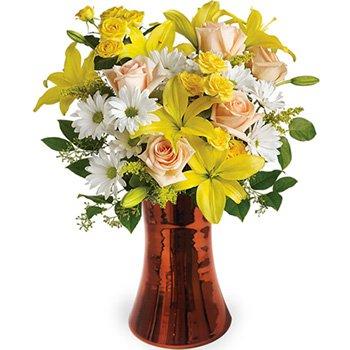 Poesia Mix de Rosas & Lírios Amarelos