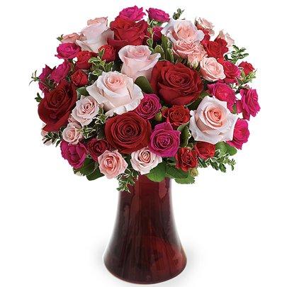 Poesia Mix de Rosas Coloridas Premium