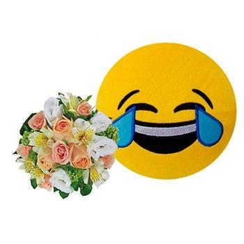 Mix de Flores & Emoji Chorando de Rir