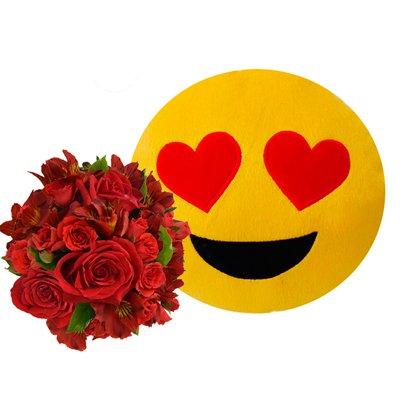Buquê Vermelho & Emoji Apaixonado