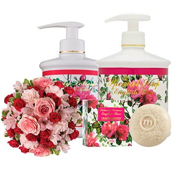 Mix de Flores & Kit Mahogany English Rose